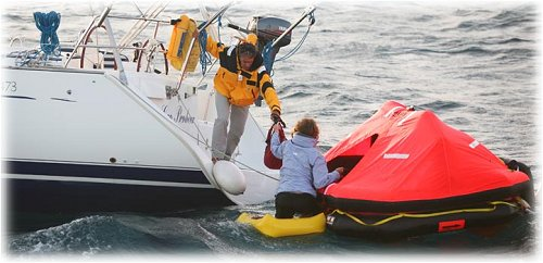 Ocean Rescue Using a Life Raft